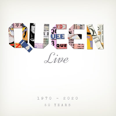 Queen, Live hardback book by Danann